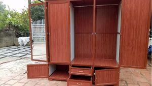 mẫu tủ nhôm kính đựng quần áo